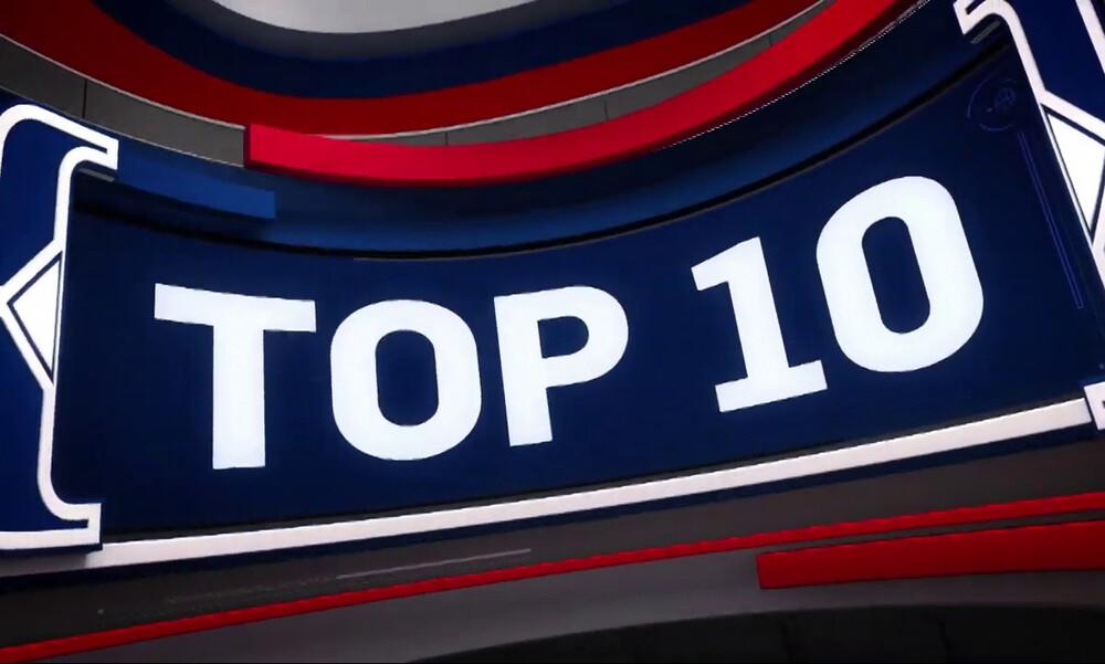 NBA Top 10: H τάπα του Τόλιβερ στον Giannis πιάνει κορυφή.