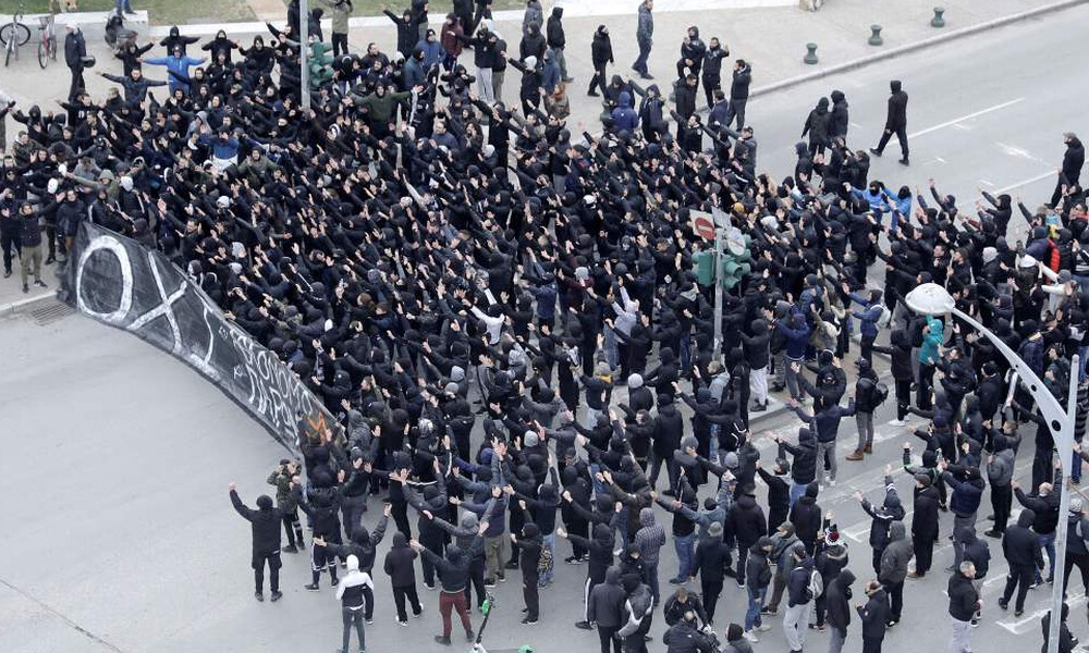ΠΑΟΚ-Άρης: Οπαδοί έκλεισαν το κέντρο της Θεσσαλονίκης πριν το ντέρμπι! (photos)