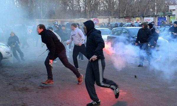 Επεισόδια οπαδών στη Βουλγαρία (photos)
