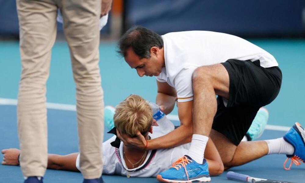 ΣΟΚ: Τενίστας κατέρρευσε σε αγώνα! (video+photos)