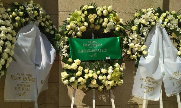 Στεφάνια για τον Θανάση Γιαννακόπουλο από ΠΑΕ και Γιώργο Βαρδινογιάννη