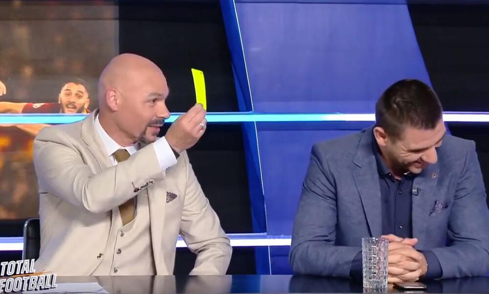 Τρομερά πράγματα: Ο Κάκος έβγαλε κίτρινη κάρτα στον Κατσουράνη on air! (video)