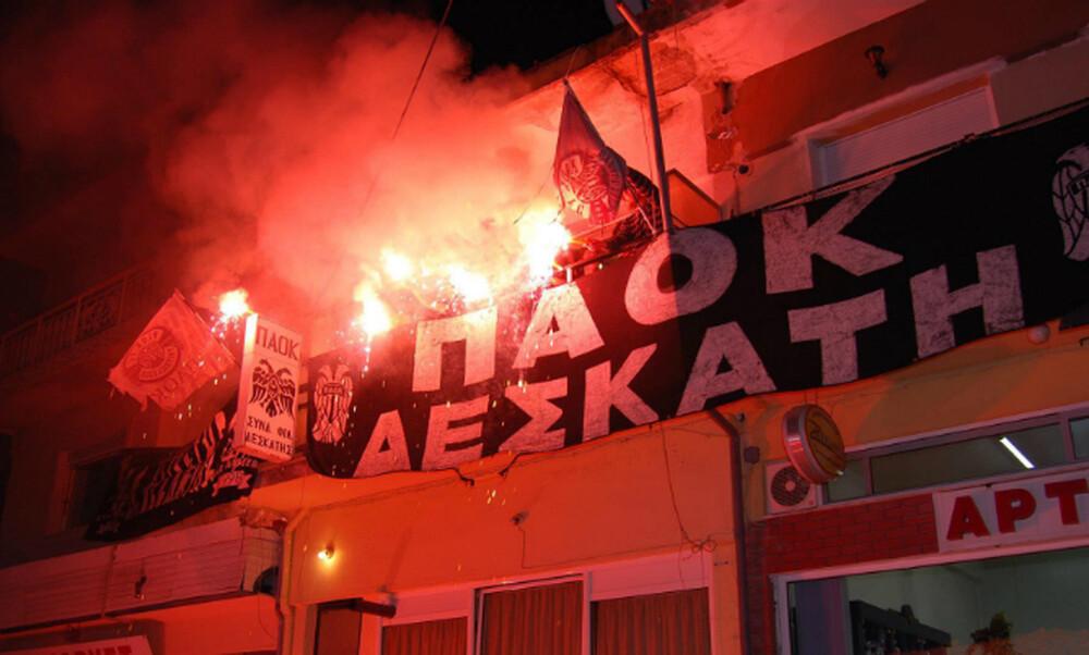 ΠΑΟΚ: Αναστάσιμο pyroshow οπαδών στη Δεσκάτη (video)