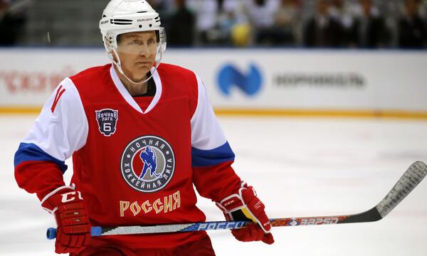 Ο Πούτιν πέτυχε 8 γκολ σε αγώνα χόκεϊ επί πάγου