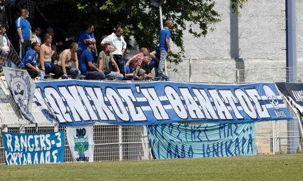 «Κάηκε» το γήπεδο της Νεάπολης για τον Ιωνικό (photos+videos)