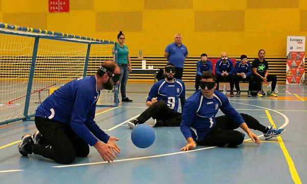 Δεύτερη η εθνική ομάδα γκόλμπολ των ανδρών στο διεθνές τουρνουά της Πράγας