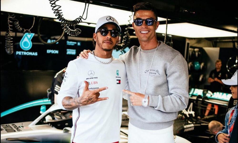 Συνάντηση Κριστιάνο - Χάμιλτον στα δοκιμαστικά της F1 στο Μονακό (pics)