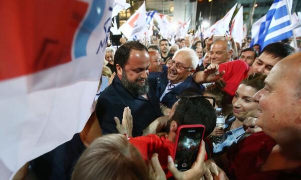 Ολυμπιακός: Στην κεντρική προεκλογική ομιλία Μώραλη στον Πειραιά ο Μαρινάκης (photos)