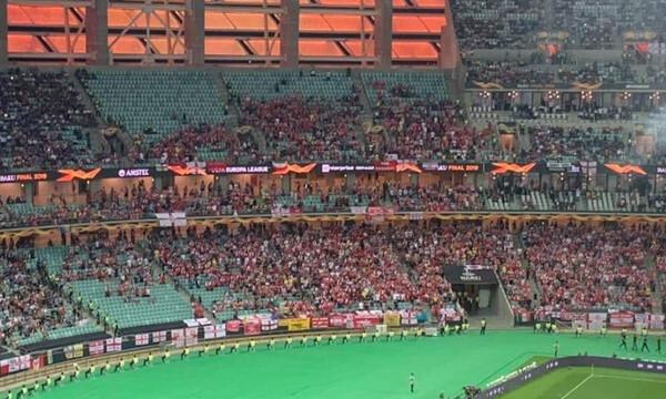 Τελικός Europa League: Άδειες εξέδρες και «κρύα» ατμόσφαιρα στο Μπακού (photos)