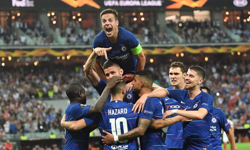Europa League: Τα απίστευτα ρεκόρ της Τσέλσι του Σάρι και του Αζάρ! (photos)