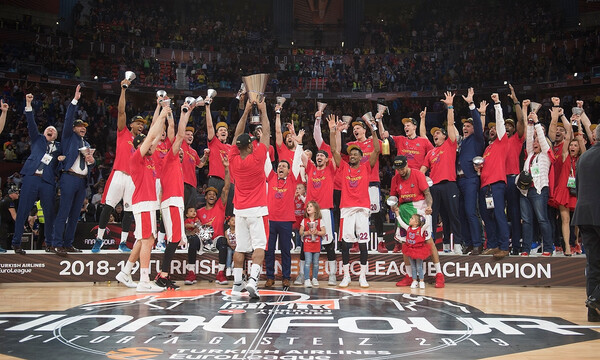 ΤΣΣΚΑ Μόσχας: Βλέπουν τελικό Champions League παρέα με την κούπα της Euroleague! (photo)