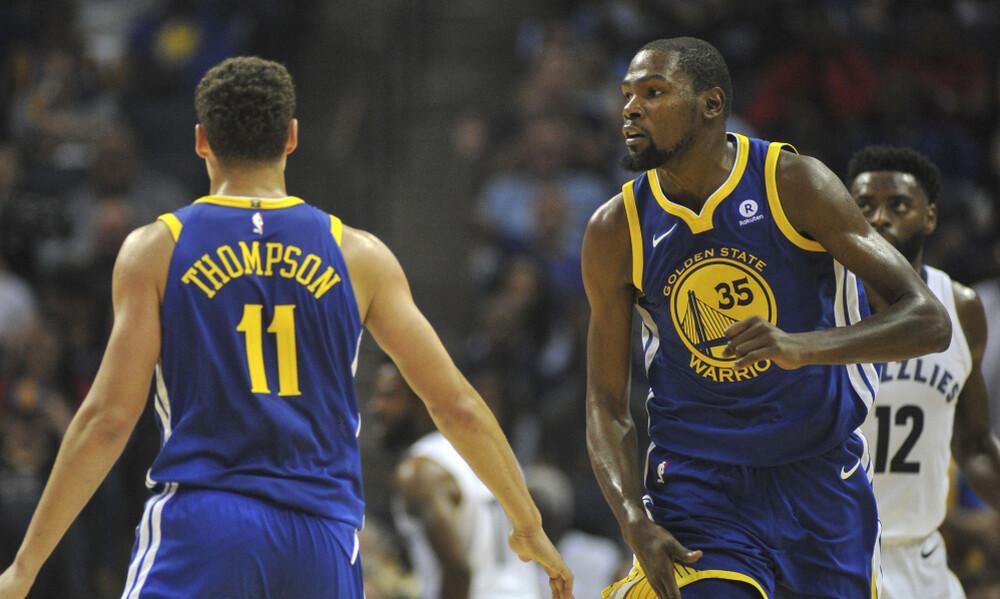 NBA: «Τρέχουν» για το Game 4 Ντουράντ και Τόμπσον
