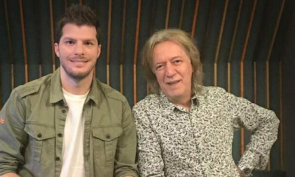 Λούκας Γιώρκας και Κώστας Τουρνάς στο στούντιο  για τη διασκευή του θρυλικού «Ήλιε μου»