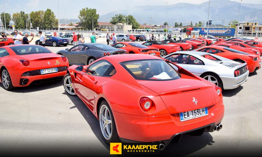 «Κοκκίνησε» η Πάτρα από τις πανέμορφες Ferrari (photos)