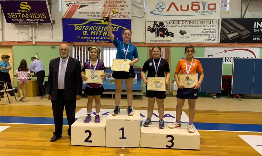 Δύο χρυσά στα ατομικά παγκορασίδων η Γκαϊντατζή, πρωταθλητής Ελλάδας στο απλό παμπαίδων ο Μηλικούδης