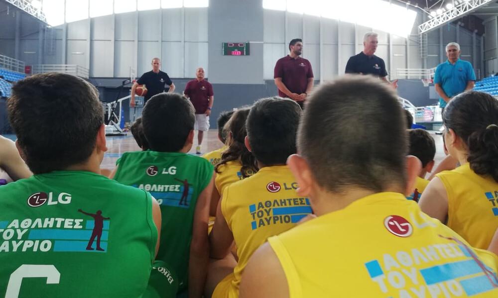 Οι προπονητές της Team USA U19 στο Giannakis Academy