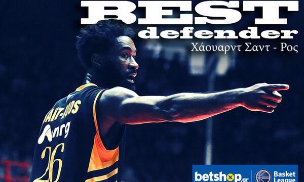 Καλύτερος αμυντικός της Basket League o Σαντ Ρος!