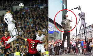 Cristiano Ronaldo header challenge: Μπορείς να πηδήξεις κι εσύ τόσο ψηλά; (video)
