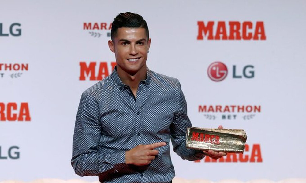 Ο Κριστιάνο Ρονάλντο παρέλαβε το «Marca Leyenda» κι ευχήθηκε… επιστροφή στη Μαδρίτη (video)