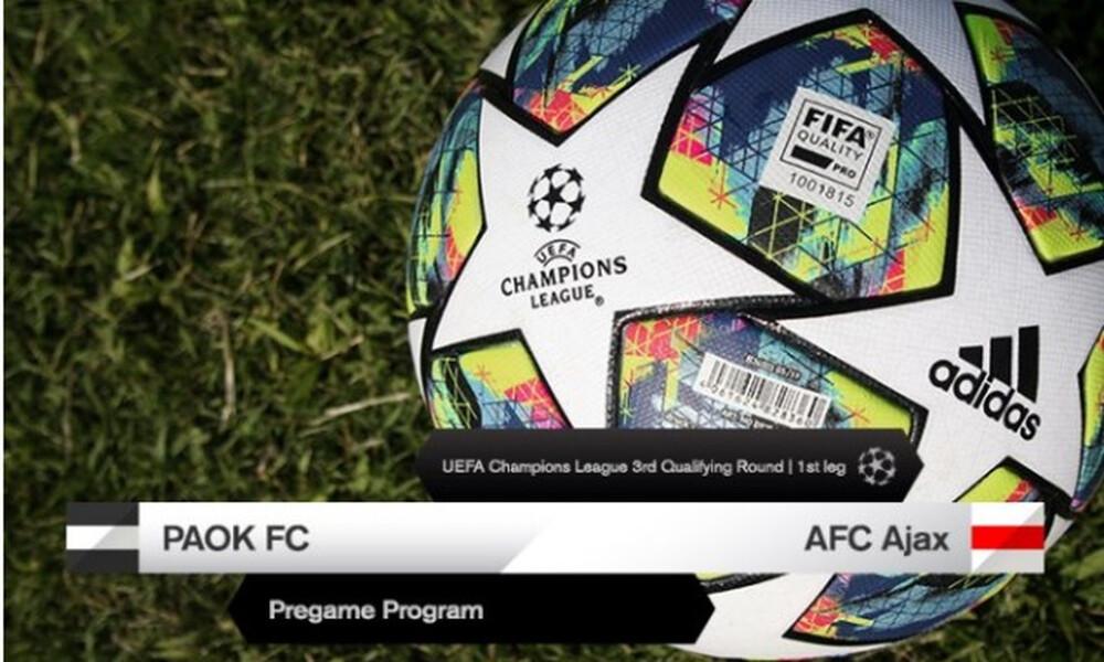 ΠΑΟΚ-Άγιαξ: Το πρόγραμμα του παιχνιδιού