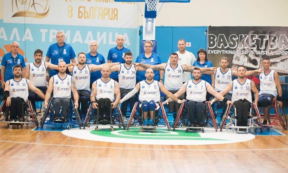«Χρυσή» η Εθνική Ομάδα Καλαθοσφαίρισης με Αμαξίδιο με την υποστήριξη του ΟΠΑΠ
