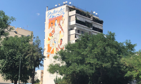 Εντυπωσιακά πλάνα από το γκράφιτι των Antetokounbros (photos+video)