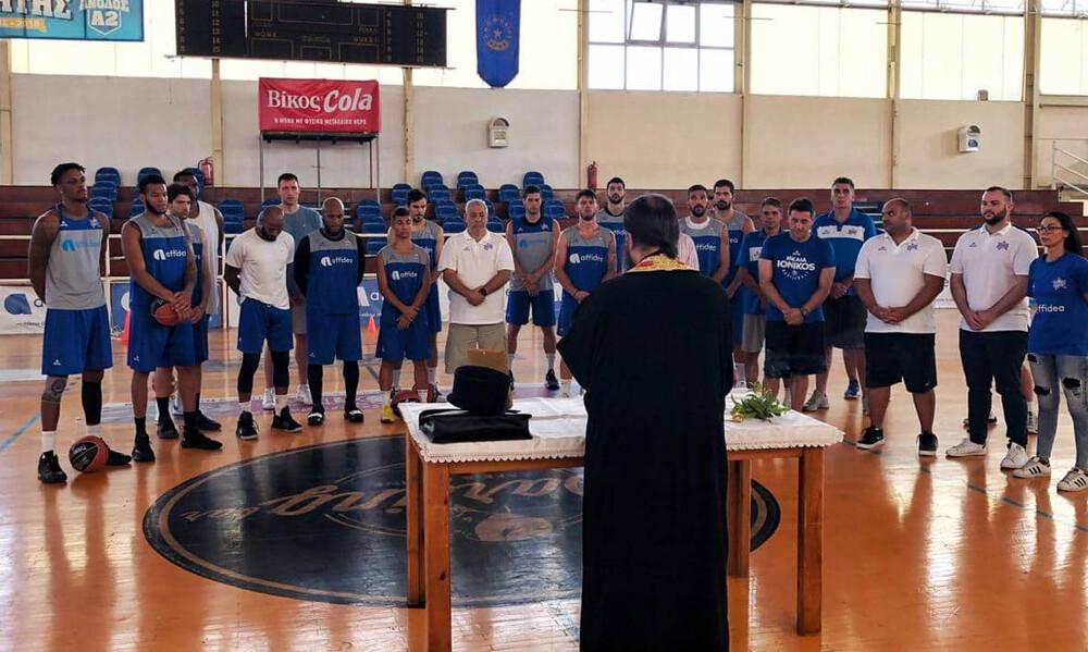 Ιωνικός: Αγιασμός ενόψει Basket League (photos)