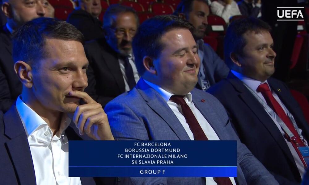 Η επική αντίδραση των ανθρώπων της Σλάβια Πράγας όταν μαθαίνουν τον όμιλο του Champions League!