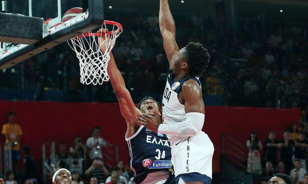 Παγκόσμιο Κύπελλο Μπάσκετ 2019: Η καρφωματάρα του Γιάννη Αντετοκούνμπο με τις ΗΠΑ! (video)