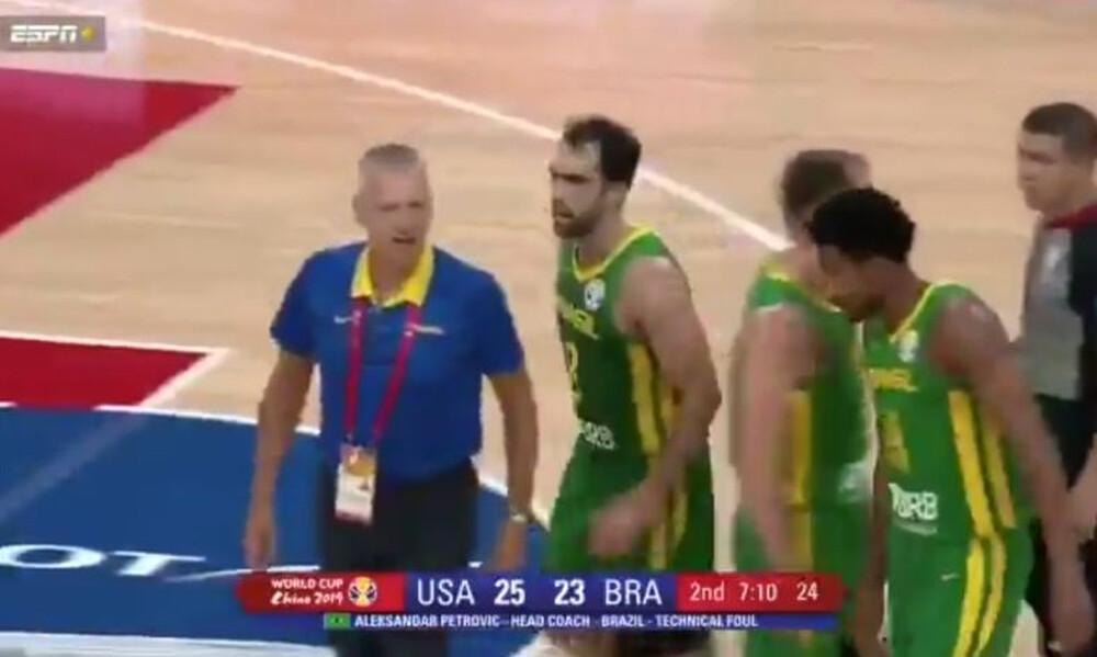 Ξέφυγε ο Άτσο Πέτροβιτς στο ΗΠΑ – Βραζιλία, αποβλήθηκε και… αγρίεψε! (video+photos)