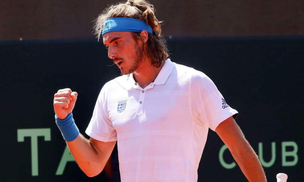 Davis Cup: Με σαρωτικό Τσιτσιπά ισοφάρισε η Ελλάδα