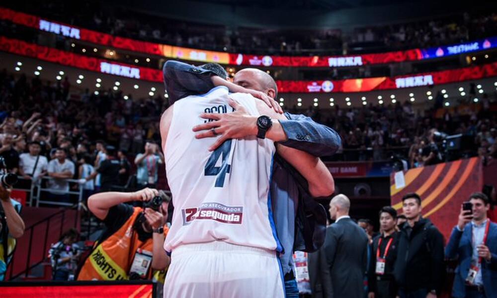 Παγκόσμιο Κύπελλο Μπάσκετ 2019: Σκόλα και Τζινόμπιλι στη σκηνή του τουρνουά (video+photos)