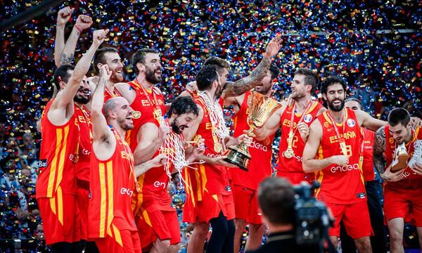 Η απονομή στην Παγκόσμια Πρωταθλήτρια Ισπανία (video)
