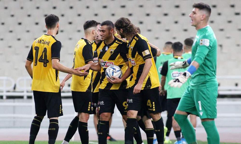 Το 2-0 της ΑΕΚ επί της Λαμίας στο ημίχρονο (videos)