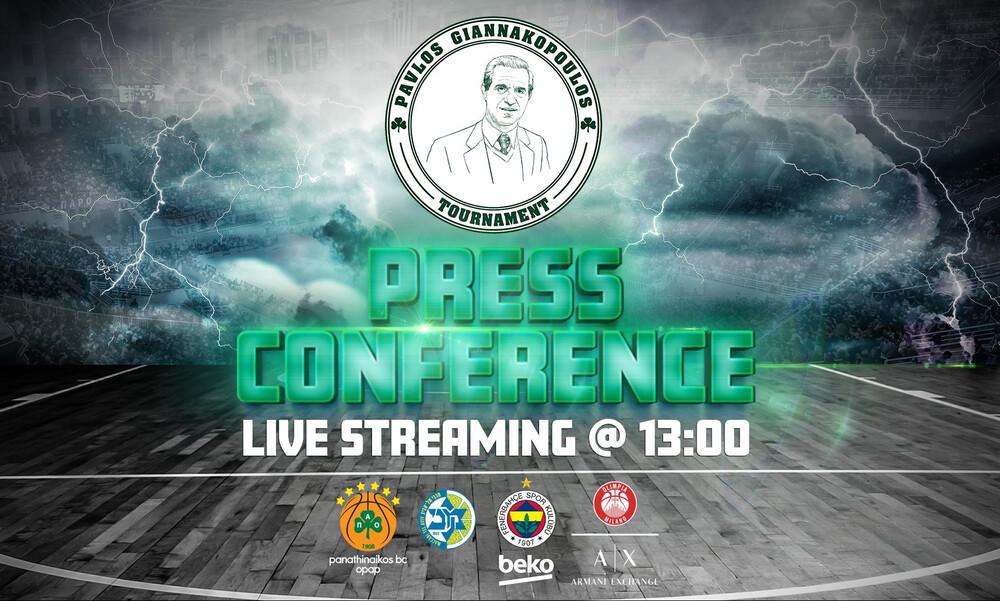 Live Streaming η συνέντευξη Τύπου για το τουρνουά Παύλος Γιαννακόπουλος
