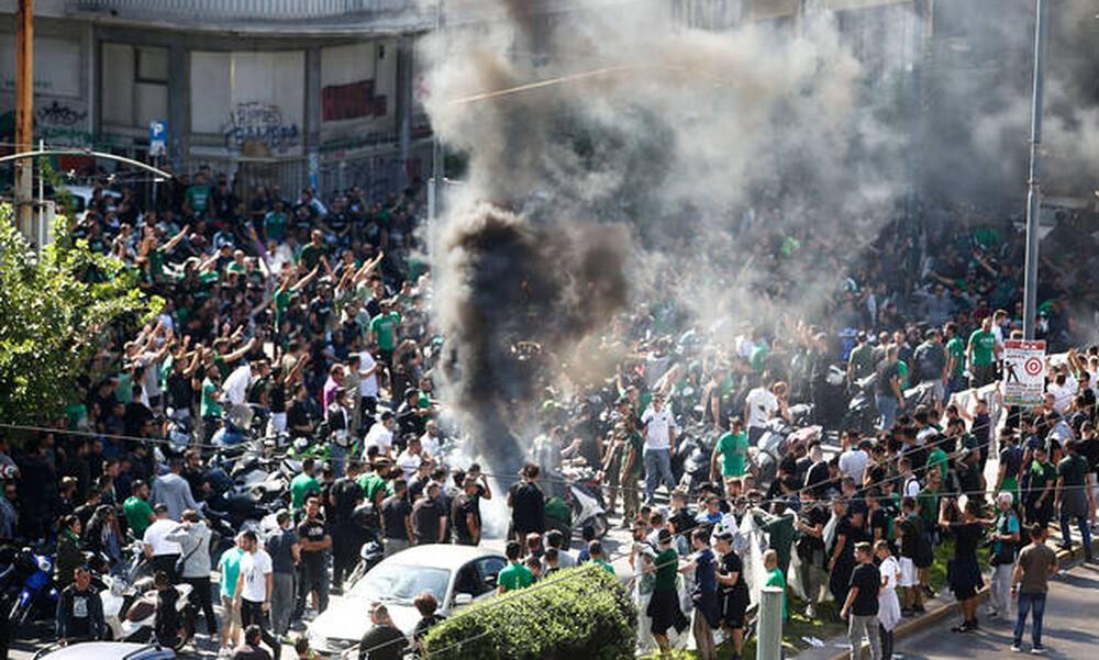 Το συλλαλητήριο των οπαδών του Παναθηναϊκού στη Λεωφόρο (photos)