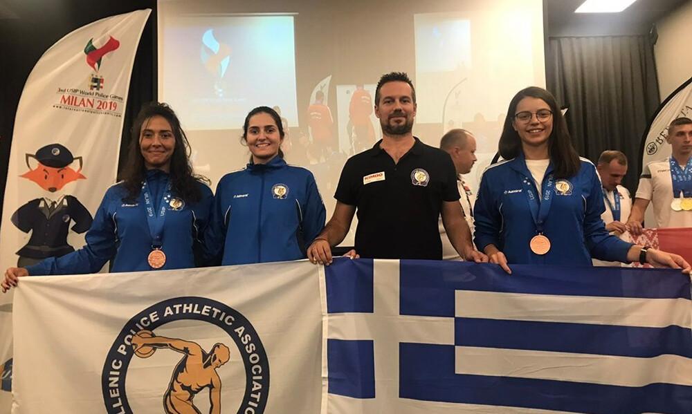 Δυο χάλκινα μετάλλια στους Παγκόσμιους Αγώνες Αστυνομικών για την Αθλητική Ένωση Αστυνομικών Ελλάδος