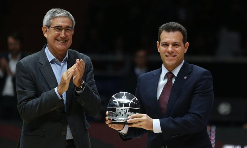 Euroleague: Πήρε το βραβείο του καλύτερου προπονητή ο Ιτούδης (video)