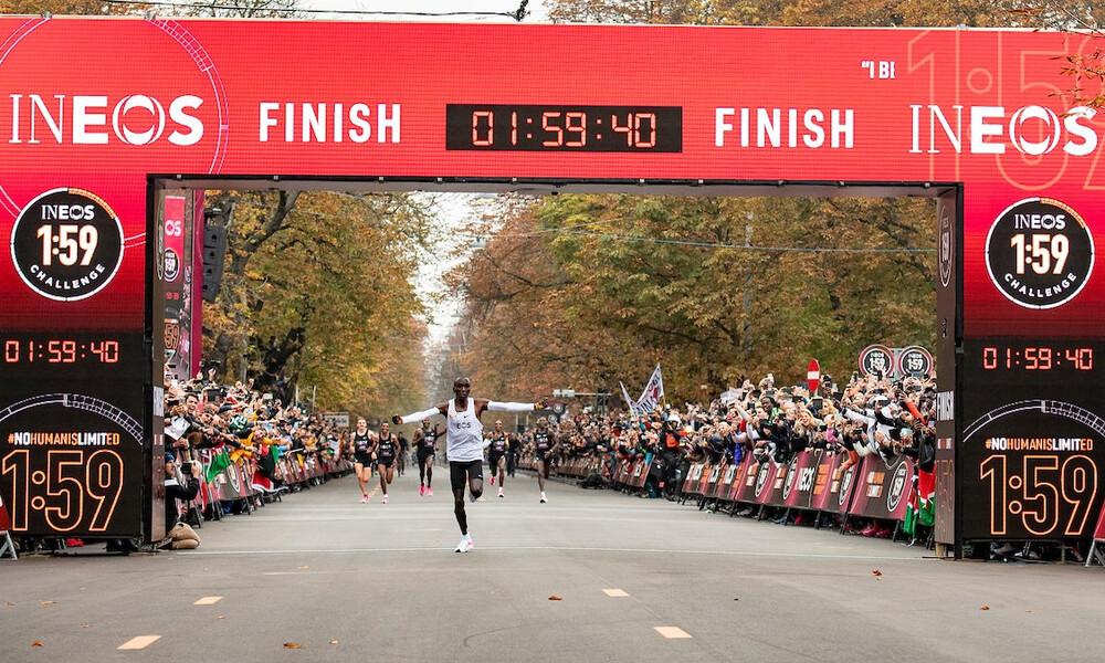 Απίθανος Κιπτσόγκε! Ο πρώτος αθλητής που έτρεξε τον μαραθώνιο σε λιγότερο από δύο ώρες! (video)