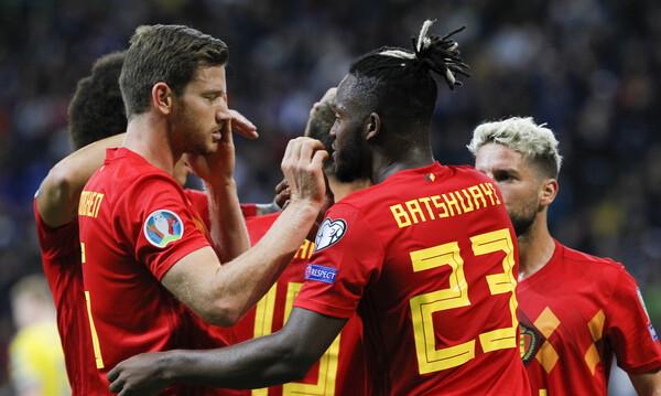 Προκριματικά Euro 2020: Ακάθεκτο το Βέλγιο, πέρασε από το Καζακστάν (video)