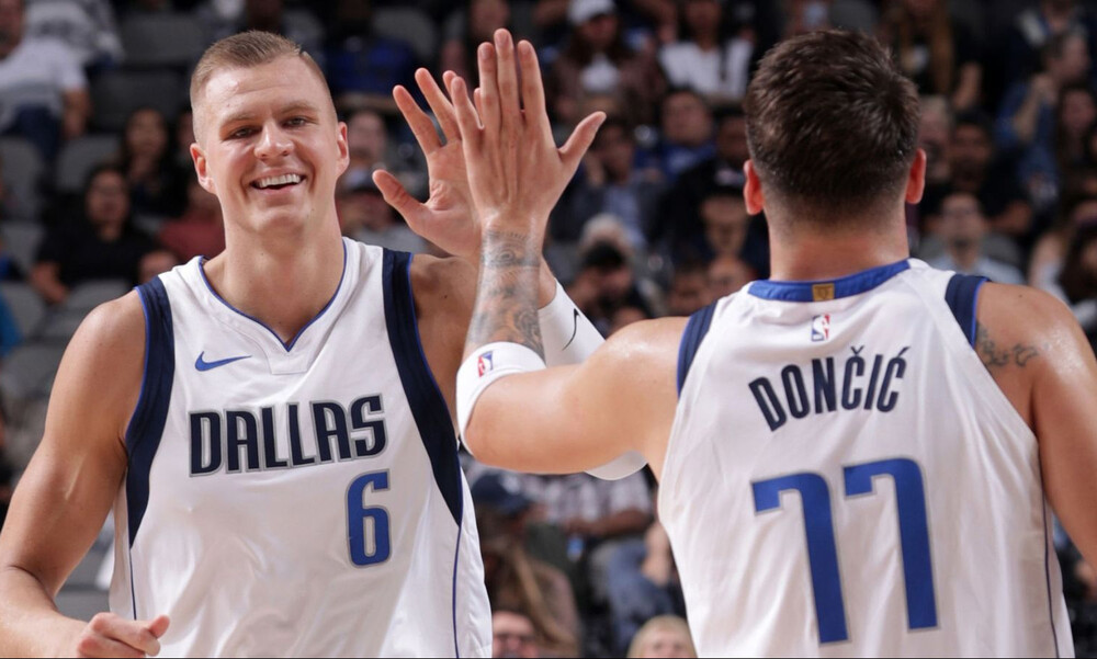 NBA: Αρχίζουν και… οργιάζουν Ντόντσιτς-Πορζίνγκις (video+photos)