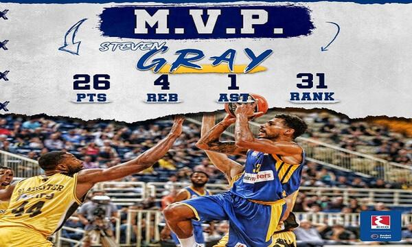ΕΚΟ Basket League: MVP της 4ης αγωνιστικής ο Γκρέι (video)