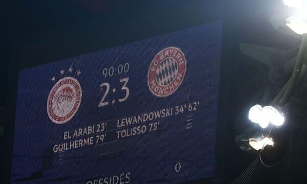 Ολυμπιακός-Μπάγερν Μονάχου 2-3: Τα highlights του αγώνα (video)