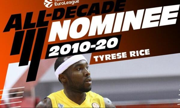 Euroleague: Υποψήφιος για την ομάδα της 10ετίας ο Ράις (video)