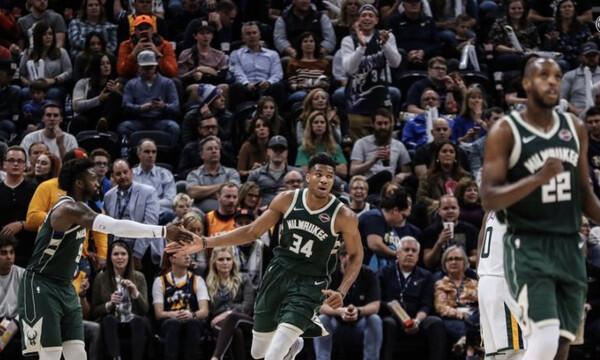 NBA: Τα καλύτερα του Γιάννη κόντρα στους Τζάζ! (video)