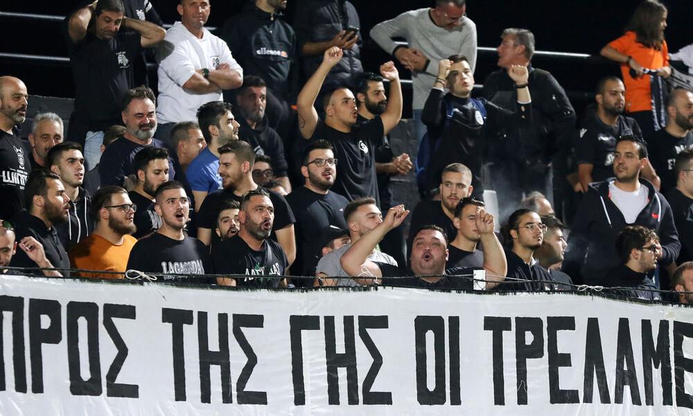 Το πανό - γροθιά στο ρατσισμό των οπαδών του ΠΑΟΚ
