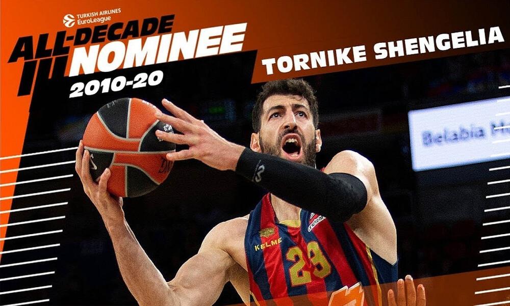 Euroleague: Υποψήφιος για την ομάδα της 10ετίας ο Τορνίκε Σενγκέλια (video)