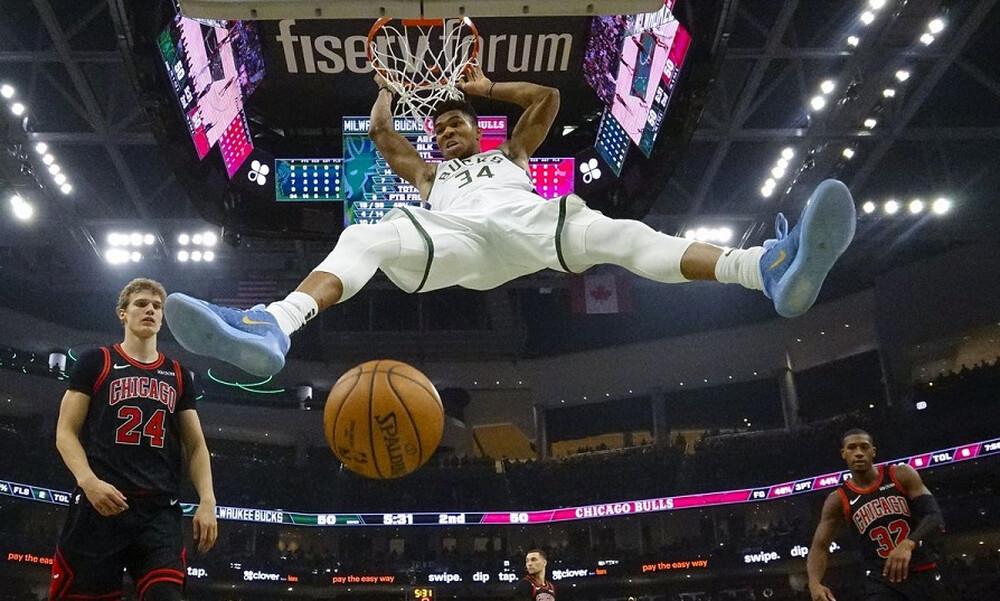 NBA: Μαγικός Giannis και νίκη των Μπακς επί των Μπουλς (video)