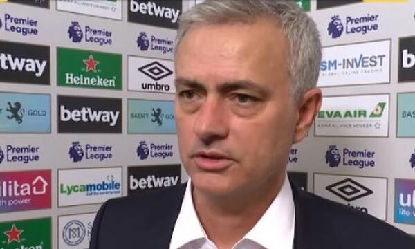 Μουρίνιο: «Θα μισήσω όποιον πει ότι είχα μερίδιο στη νίκη»! (video)