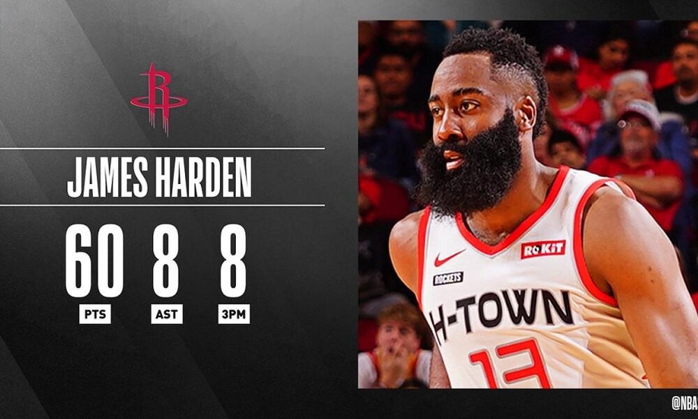 NBA: Έγραψε ιστορία ο Χάρντεν (video)